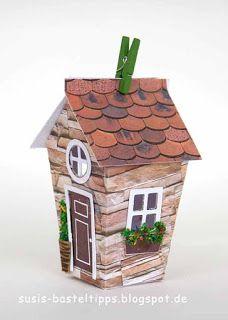 """englisches Cottage mit Stanzen """"Ein Haus für alle Fälle"""" von Stampin' Up!"""