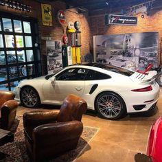 Pin By Trinity Thornton On Garage House In 2019 Dream Garage, Car Garage, Warehouse Home, Ultimate Man Cave, Ferdinand Porsche, Luxury Garage, Man Cave Garage, Garage Design, Garage Workshop