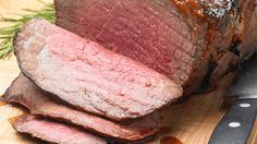 Marinated and Barbecued Rump Roast Rump Steak Recipes, Baked Potato Oven, Round Roast, Roast Dinner, Food Website, Recipe Details, Barbecue Sauce, Coleslaw, Recipe Collection