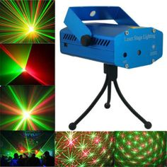 LED Laser Light 150MW Mini Red Green Moving Party Laser Stage Light DJ party light Twinkle 110-240V 50-60Hz US/EU/AU Plug #Affiliate