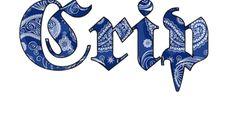 Crips gang logo. See this beat it.