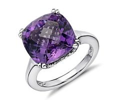 Amethyst Cocktail Ring in Sterling Silver