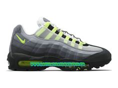 """Nike Air Max 95 V SP """"Patch"""" Neon OG - Chaussures Nike Pas Cher Pour Homme Blanc/Noir-Anthracite-Jaune fluo 747137-170"""