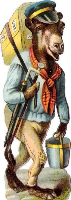 Oblaten Glanzbild scrap cut  chromo Kamel camel humanisiert vermenschlicht comic Vintage Crafts, Vintage Ephemera, Vintage Paper, Old Children's Books, Die Cut, Painted Books, Comic, Vintage Pictures, Clipart