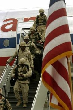 Welcome home. Thanks for serving America