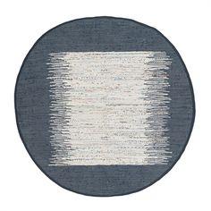Safavieh MTK711L Montauk Flat Weave Ivory and Navy Area Rug