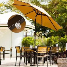 Lighted Umbrella For Patio 10 Ollieroo Outdoor Solar Powered 32 Led Lighted Patio Umbrella