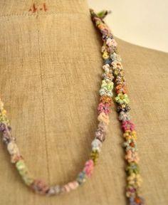 Sophie Digard / fleurs linen necklace (CMU-MM-LIN-NRGC) by Sophie Digard | petiteparis