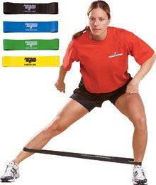 Mini Bands are great to help strengthen stabilizer muscles in the legs.  1. Walk laterally with them around your ankles 2. Squat with them around your knees 3. Lay on your side with them around your knees and separate your knees while keeping your feet together  Get strong glute muscles to prevent knee, ankle or hip injuries. AND look more toned!