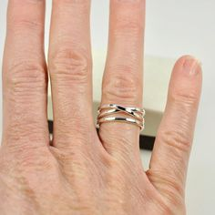 Silver Infinity Ring Plus One Stacking Pure by seababejewelry