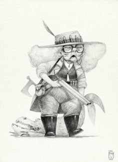 bladmoran: Sketchtober | 005 Blad Moran