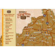 Kentucky bourbon trail on pinterest kentucky bourbon for Ky bourbon trail craft tour map