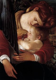 Rest on Flight to Egypt detail, 1596-97 Caravaggio