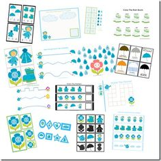 April Showers Preschool Pack (FREE) - being updated and will be available to print April 1st.  : )
