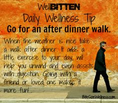 WellBitten Wellness Tip Take A Walk BiteSizeWellness