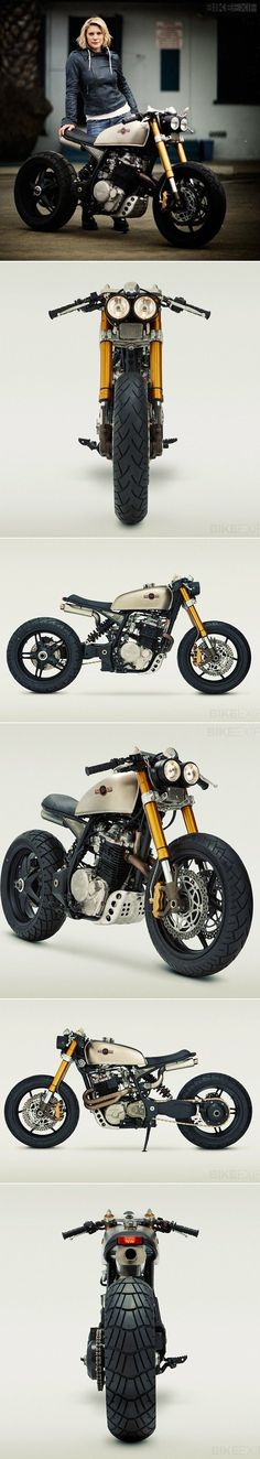 Moto custom par Classified Moto - Car, bike,trailer and trucks - Motorrad Gp Moto, Moto Cafe, Cafe Bike, Cafe Racer Bikes, Cafe Racer Motorcycle, Suzuki Motorcycle, Chopper Motorcycle, Bobber Chopper, Motorcycle Design