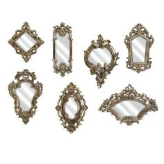 I pinned this 7 Piece Loletta Wall Mirror Set from the Apothecary event at Joss and Main!