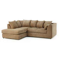 Manhattan Corner Sofa, Coffee, Left Hand   ACHICA
