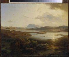 Bild: Carl Anton Joseph Rottmann - Der Kopais-See in Böotien mit dem Parnass.