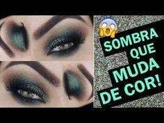Makeup Tutorial Smokey Eyes com sombra de DUPLO EFEITO - #fazolhão - YouTube