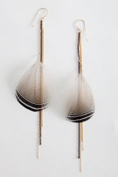 Lisa Levine Wild Feather Earrings