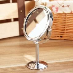 New Round Table Mirror Double-sided Rotatable Mirror Magnifying Beauty Cosmetic Makeup Mirror decorations