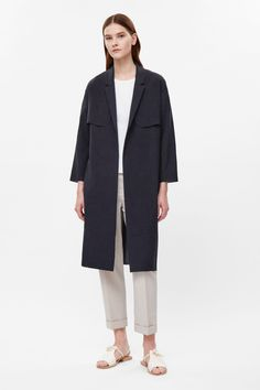 COS image 1 of Belted trench blazer in Navy