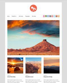 free wordpress selling art themes | Photo 20+ Free WordPress Themes Following the Flat Web Design Trend