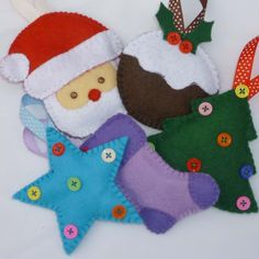 ornaments made of felt