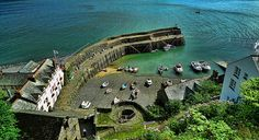 Clovelly Harbour, Clovelly, North Devon, England