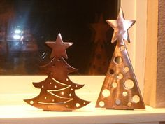 Christmas tree tea light candle holders - make from polymer clay?