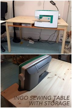 INGO hacked for sewing. http://www.ikeahackers.net/2017/02/ikea-ingo-sewing-table-storage.html