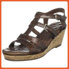 Walking Cradles Women's Ashley Wedge Sandal,Dark Copper,9.5 W US - Sandals for women (*Amazon Partner-Link)