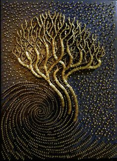 Cosmic Hope | Robyn Chapman's Portfolio: Nail Relief and Mixed Media Art