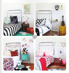 Different decoration ideas for same bed :)