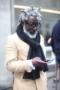 great hair and beard Black Men Beards, Mens Style Guide, Grown Man, Men Street, Older Men, Stylish Men, Bearded Men, Role Models, Dapper