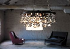 Wagon wheel chandelier.