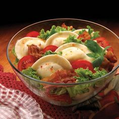 BLT perogy salad. I used mini tomatoes cut in half, crumbled bacon, and superstore potato bacon perogies. I also cheated and used the thousand island instead of the homemade dressing because I did not want to buy chili sauce just for this. Everyone seemed to like it. Would consider trying the other perogy salad recipe I pinned.
