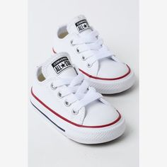 100% authentic 926b0 21aca Converse Infant Chuck Taylor All Star OX White Red Navy