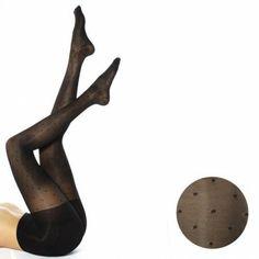 RejuvaHealth Sheer Black Dot Pantyhose - Pantyhose - Stocking Type
