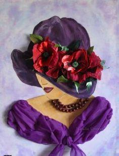 Painting People, Woman Painting, Afro Hair Drawing, Vintage Art, Vintage Ladies, Fancy Hats, Ribbon Art, Victorian Women, Pencil Art Drawings