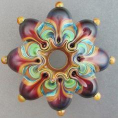 Handmade Lampwork Glass Focal Bead ~ SPICED ~ Leah Nietz SRA N39