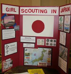 Thinking Day display for Japan