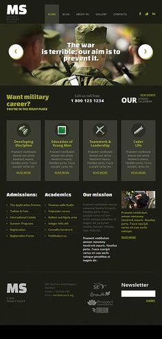Military Most Popular website inspirations at your coffee break? Browse for more WordPress #templates! // Regular price: $75 // Sources available: .PSD, .PHP, This theme is widgetized #Military #Most Popular #WordPress