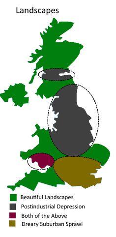 UK Divided By Landscapes