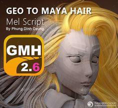 MAYA Plugins GMH2 Hair Script - 3DOcean Item for Sale