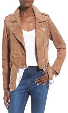 Shop for Morning Suede Moto Jacket by Blank NYC on ShopStyle.