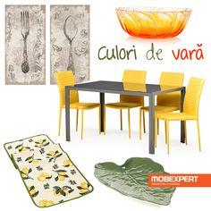 O masă ușoară servită într-un decor vesel colorat – așa arată o după-amiază perfectă de vară. #moodboard #decoideea #mobexpert