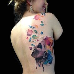 2017 trend Watercolor tattoo -  ... Check more at http://tattooviral.com/tattoo-designs/watercolor-tattoos/watercolor-tattoo-6/