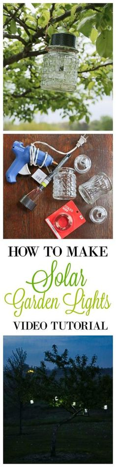 DIY Solar Powered Projects - DIY Solar Garden Lights - Easy Solar Crafts and DYI Ideas for Making Solar Power Things You Can Use To Save Energy - Step by Step Tutorials for Making Things Without Batteries - DIY Projects and Crafts for Men and Women http://diyjoy.com/diy-solar-power-projects